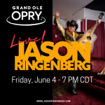 JASON RINGENBERG TO DEBUT ON THE GRAND OLE OPRY JUNE 4
